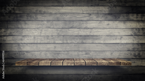 Foto op Plexiglas Retro Wood Texture Background. Vintage and Grunge style.