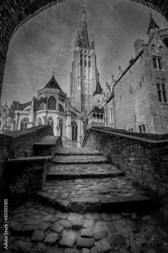 Stampa su Tela  Church of Our Lady Bruges Belgium