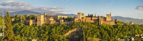 Alhambra panorámica 1 Canvas Print