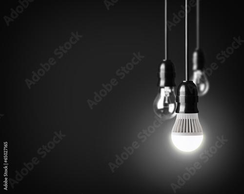 Valokuva  Idea concept on black