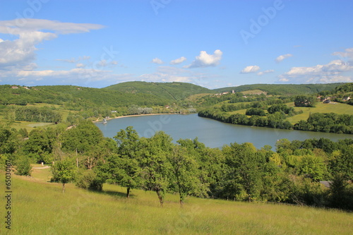 Fototapeta Le lac du Causse.(Corrèze) obraz na płótnie