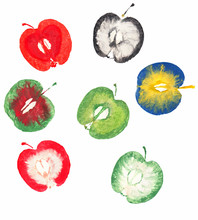 Several Apple Stamps Isolated ...