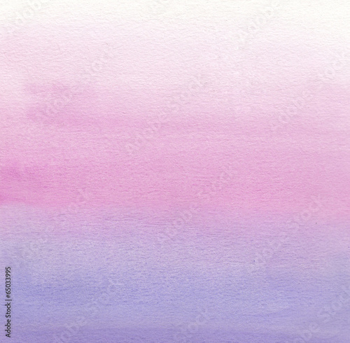 fototapeta na lodówkę Watercolor painting. White, pink, purple gradient