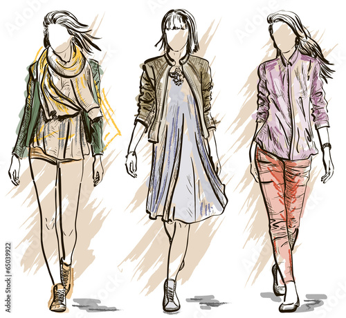 Sketch of Fashion models