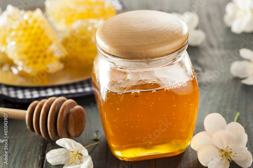 Valokuva  Organic Raw Golden Honey Comb
