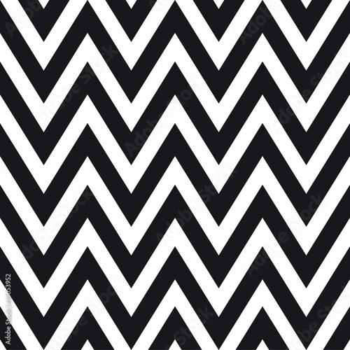 Naklejka dekoracyjna Czarno biały wzór pattern - szewron