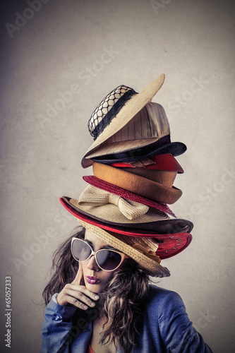 Fotografie, Obraz  hats