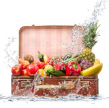 valigia frutta splash