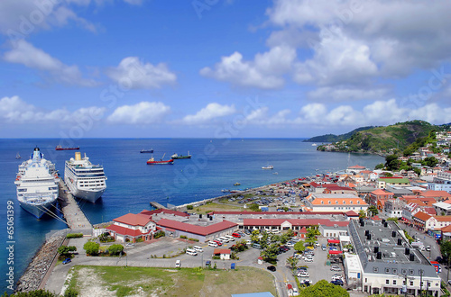 Photo Stands Caribbean St George's harbour in Grenada