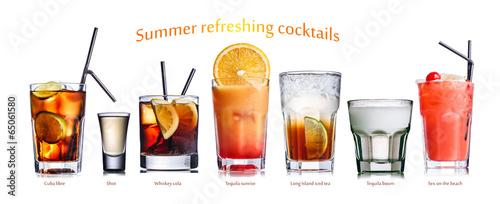 Obraz na plátně  Summer refreshing cocktails