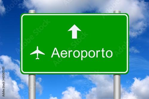 Cartello direzione aeroporto Canvas Print