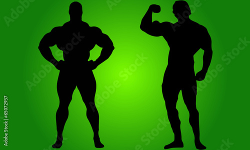 Bodybuilders Ronnie And Arnold Canvas Print