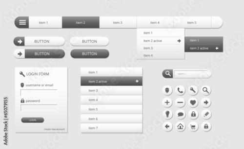 Fotografía  modern black and white web ui elements