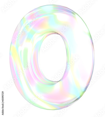 3d Transparent Letter O Colored With Pastel Colors Buy This Stock