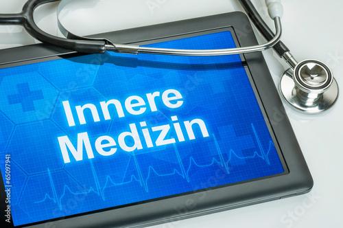 Obraz na plátně  Tablet mit dem Fachgebiet Innere Medizin auf dem Display