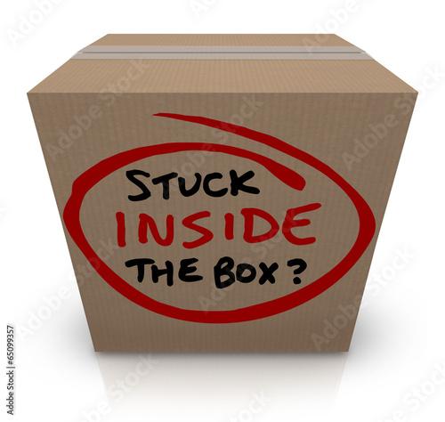 Fotografie, Tablou  Stuck Inside the Box Stale Unoriginal Ideas Same Bureaucracy
