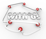 Connect With Us Arrows Balls Link Communicate Contact Informatio
