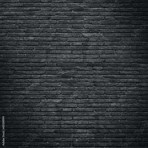Poster Baksteen muur dark brick wall