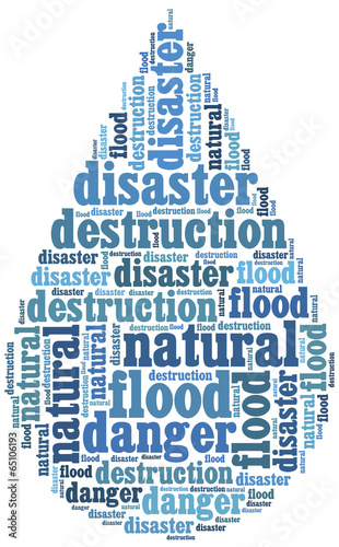 Word cloud illustration related to natural disaster - Buy