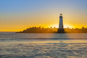 FototapetaLighthouse at sunset