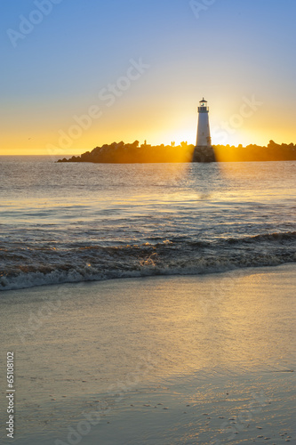 Lighthouse at sunset - 65108102