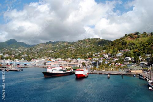 Foto auf Gartenposter Karibik Kingstown harbour in St Vincent