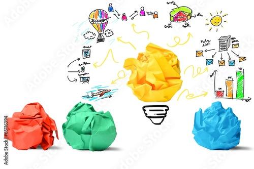Obraz Idea and innovation concept - fototapety do salonu