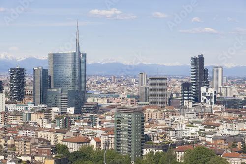 In de dag Milan Vista panoramica della città di Milano