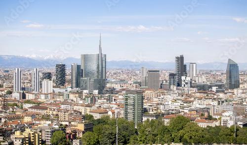 Foto op Canvas Milan Vista panoramica della città di Milano