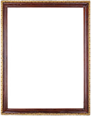 Vintage picture frame isolated on white with clipping path