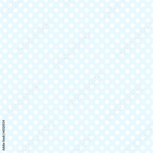 Wall mural - Seamless blue polka dot background