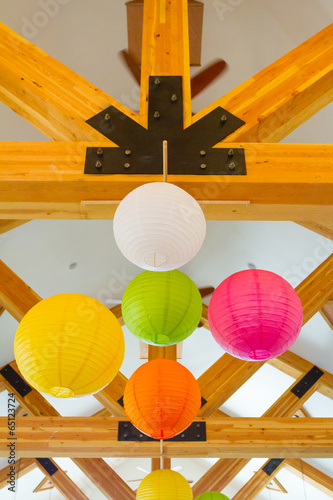 Photo  Chinese Paper Lanterns Wedding Decor
