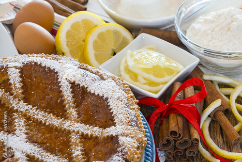 Fotografie, Obraz  Typical sweet Campania - Neapolitan pastiera