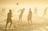 Brazilians Playing Altinho Keepy Uppy Beach Soccer Football - 65131945