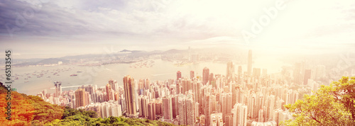 Spoed Foto op Canvas Hong-Kong panorama of hong kong ,China