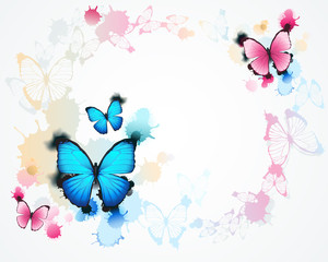 Naklejka Do pokoju dziecka butterfly background