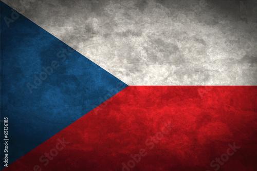 Fototapety, obrazy: .Czech Grunge Flag