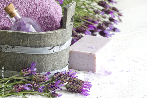 Lavender cosmetics spa body care abstract composition