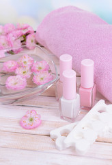 Obraz na płótnie Canvas Beautiful spa setting on table close-up