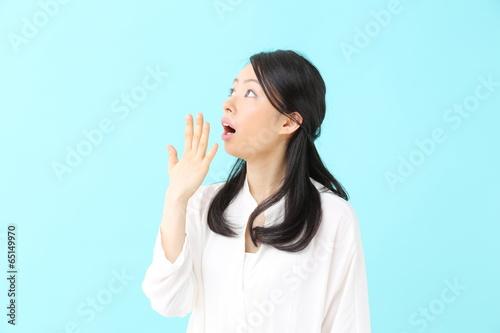 Fotografie, Obraz  驚く若い女性