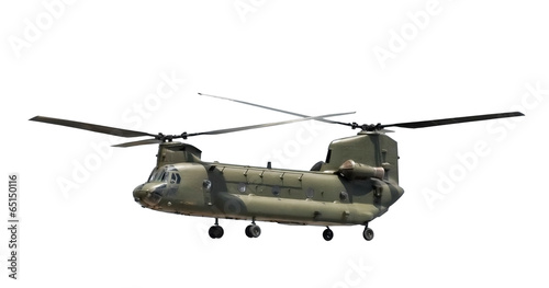 Foto op Aluminium Helicopter large military helicopter isolated on white