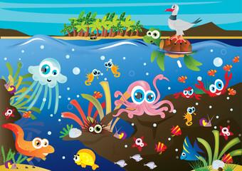 Fototapeta na wymiar podwodny świat