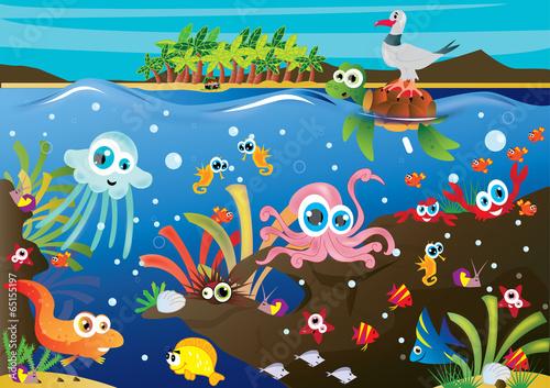 Fototapeta podwodny świat obraz