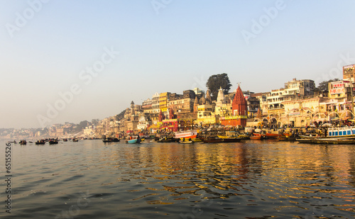 Foto op Canvas India the city and the ghats of Varanasi