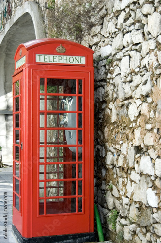 Poster London British Phone Booth in Gibraltar