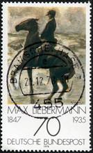 """Horseman On The Shore Turning Left"" By Max Liebermann"