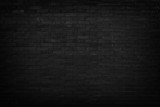 Black brick wall for background - 65173180
