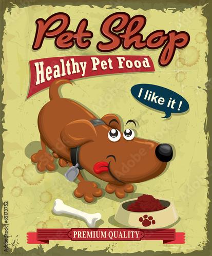projekt-plakatu-vintage-pet-shop