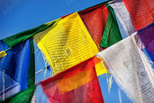 Wall Murals Nepal Buddhist prayer flags