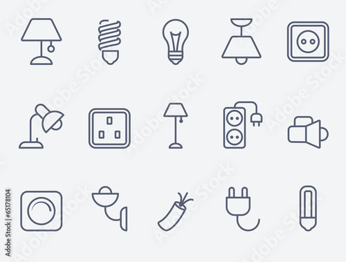 Photo  Electric accessories icons